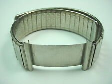 20mm Artyslip Mens Wrist Band Vintage Stainless Steel Adjustable Length NOS