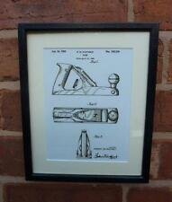 USA Patent Drawing  WOOD WORKING PLANE DIY tool MOUNTED PRINT 1950 Xmas Gift
