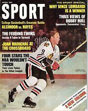 1968 (Apr) Sport Magazine, Hockey, Bobby Hull, Chicago Blackhawks ~No Label Good