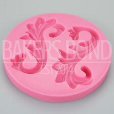Double Swirls Silicone Mould Wedding Cake Decorating Fondant Sugarcraft Topper
