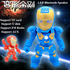 """SPEAKER IRON-MAN"" Bluetooth music player robot (4 color)"