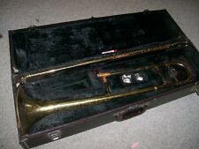 trombone brass Bundy Selmer USA Vintage w/case