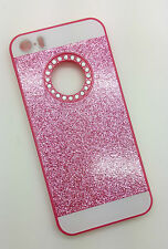 IPHONE 5 PHONE CASE RHINESTONE BLING PRESENT GIFT PINK GLITTER