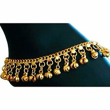 Brass Anklet with Jingling Bells Gold-Toned for Indian Traditional Belly Dance