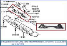 Mitsubishi Pajero/Shogun 2.8TD 4M40 (- 05/1997) - Transfer Box Mount - Manual
