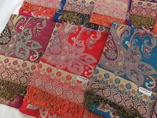 US SELLER-10pcs bohemian paisley viscose pashmina wrap shawl shawls for dresses