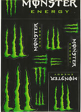 Monster Energy Drinks Logo Sheet of 12 Decals/ Stickers