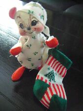ANNALEE DOLL CHRISTMAS PJ MOUSE MADE IN USA
