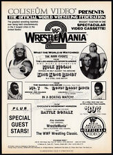 WRESTLEMANIA 2__Original 1986 video Print AD / advert promo__HULK HOGAN__WWF