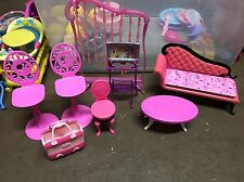 Barbie Pink Living Room Furniture Sofa Coffee Table Bar Stools Tv