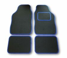 AUDI Q3 Q5 Q7 UNIVERSAL Car Floor Mats Black & Blue Trim Sline quattro all model