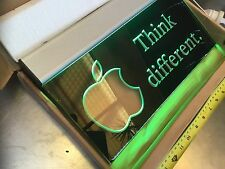 Ultra Rare Apple Computer Lighted Signboard Think Different Promo Macintosh Free