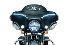 Kuryakyn Gloss Black Scythe Batwing Fairing Windshield Mounted Mirrors Harley 96