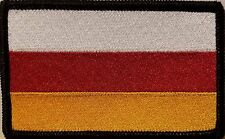 South Ossetia Flag Iron-On Patch Tactical Morale Emblem Black Border Version III