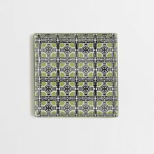 J. Crew Factory - NIB - Green Geometric Ceramic Trinket Catch-All Tray