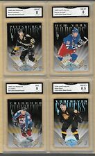 96 LEAF PREFERRED GRETZKY NHL STEEL POWER 2500 SET 1-12 GRADED NM-MT MINT