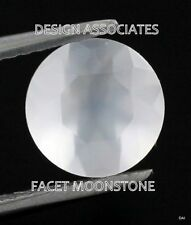 Natural Rainbow Moonstone Faceted RD, Cut Calibrated 10 MM White Color Gemstone