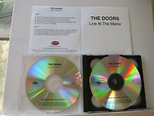 DOORS - Live At The Matrix  2 CD   UK PROMO TESTPRESSING   CDR  Rhino Records UK