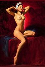 FABULOUS EROTIC PINUP NUDE BURLESQUE DANCER WOMAN VINTAGE GIRL BREASTS ART PHOTO