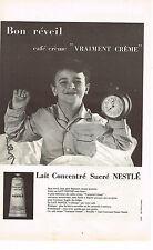 PUBLICITE ADVERTISING  1959   NESTLE   lait concentré sucré