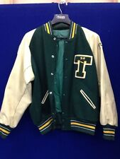 Timberline High School Letterman's Jacket, Green/Gold, Size L, RBY6.