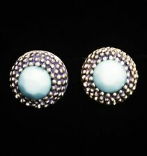 USA EARRING GEMSTONE FASHION Silver Turquoise Vintage Silver Stud Simple Blue