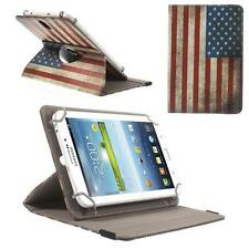 Universal Schutz Tasche Hülle Cover f 7 Zoll Tablet 360° FLAGGE USA AMERIKA 09I