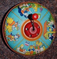 VERY VERY RARE EARLY1930's J.CHEIN MUSIC TIN TOY (WORKING- BRIGHT VIBRANT COLORS