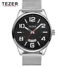 TEZER brand business quartz  watch (silver black)