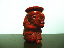 Rare Collectable Red Coral Color fisherman Snuff Bottles