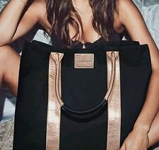 NWT Victoria's Secret PINK Limited Edition Black Gold Tote $85