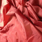 5 MTRS 60 inch wide cherry red 2oz,nylon,material,lining, backing, dress fabric