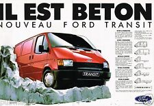 Publicité Advertising 1986 (2 pages) Camion Fourgon Utilitaire Ford Transit