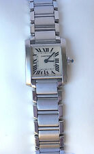 Cartier Tank Francaise Stainless Steel Ladies Watch  Excellent Condition