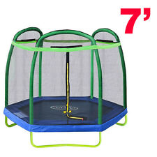 New Clevr 7FT Trampoline with Safety Enclosure Bounce Jump Net Spring Pad Round