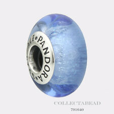 Authentic Pandora Silver Disney Cinderella Blue Fluorescent Murano Bead 791640
