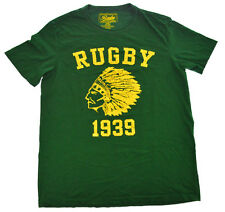 Ralph Lauren Rugby NATIVE INDIAN Chief Head 1939 M Shirt Green Cotton Mens