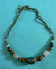 A Turquoise & Bronze Tones Necklace.  Costume Jewellery.