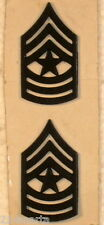 US ARMY PAIR SERGEANT MAJOR SUBDUED RANK INSIGNIA COLLAR PINS