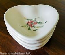 """Pfaltzgraff JAMBERRY 5 3/4"""" Heart Bowl Dish (Set of 4) Made in USA"""