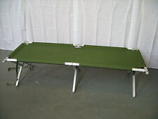 British Army - Military - Heavy Duty Aluminium Frame Folding Cot Camp Bed Mk3