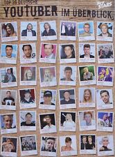 YOUTUBE STARS - A2 Poster (XL - 42x55 cm) - Clippings Fan Sammlung NEU