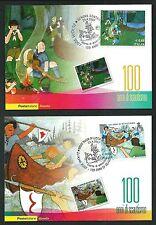 Scouts / Scautismo : n.2 cartoline Ufficiali Poste Italiane - 100 anni