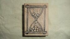 Toomuchfun Rubber Stamps  1454I Hourglass filled with hearts love time~ Stamp K1