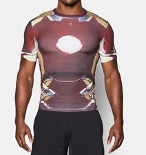 NEW MEN'S UNDER ARMOUR AVENGERS ALTER EGO IRON MAN COMPRESSION T-SHIRT ~ MD