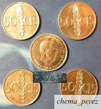 // Lote 5 monedas de 50 centimos peseta 1966 *71 SC \