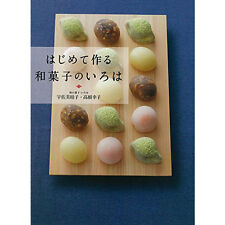 Japanese WAGASHI Sweets First time Confectionery Making Book Japan Brand-New