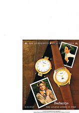 PUBLICITE  1990   BURBERRYS OF LONDON   collection montre
