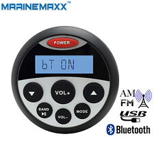 Marine Bluetooth Radio Motorcycle Stereo Receiver Waterproof Audio ATV UTV  Boat