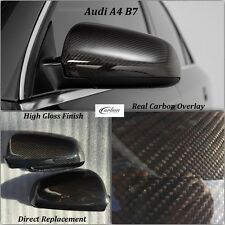 Audi A4 S4 B7 Real Carbon Fibre Wing Mirror Covers 2005-2008 Replacement Type
